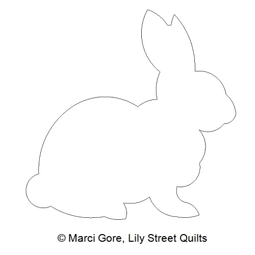 Lily street digitized longarm quilting patterns bunny outline csq