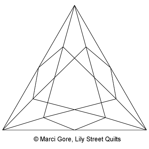 Faceted 60 Degree Triangle