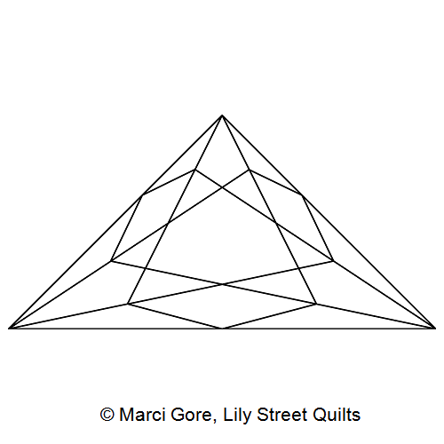 Faceted Triangle Block