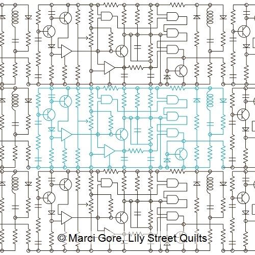 Lily Street Digitized Longarm Quilting Patterns - Schematica