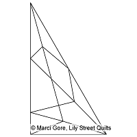 Faceted Half 60 Degree Triangle